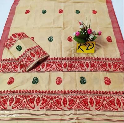 Assamese Mekhela Chadar Mix toss Riha Jura Style 17(#2445)-gallery-0