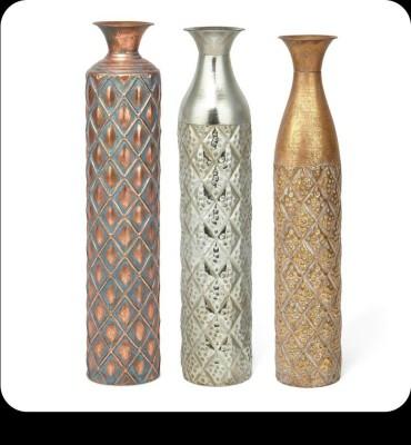 Metallic Decor Vase(#2493)-gallery-0