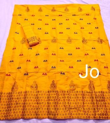 Mix Paat Assamese Mekhela Chador Style Mj 7(#2551)-gallery-0