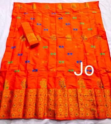 Mix Paat Assamese Mekhela Chador Style Mj 9(#2553)-gallery-0
