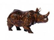 Wooden Rhino(#258) - Getkraft.com