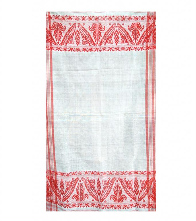 Plain Assamese Gamosa(Cotton)(#303)-gallery-0