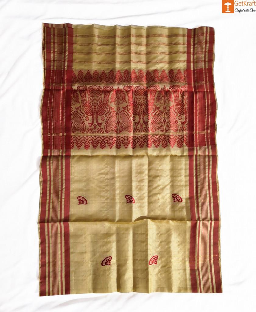 Golden Thread Assamese Gamosa(#331)-gallery-1