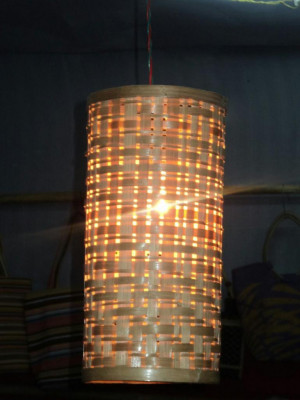 Cylindrical Bamboo Hanging Lamp for your Home(#348)-gallery-0