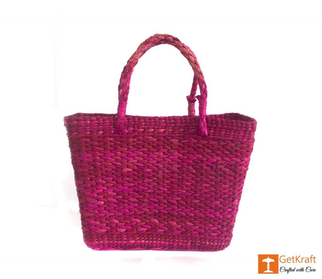 Kauna Handmade Purple Shoulder Bag(#377)-gallery-0