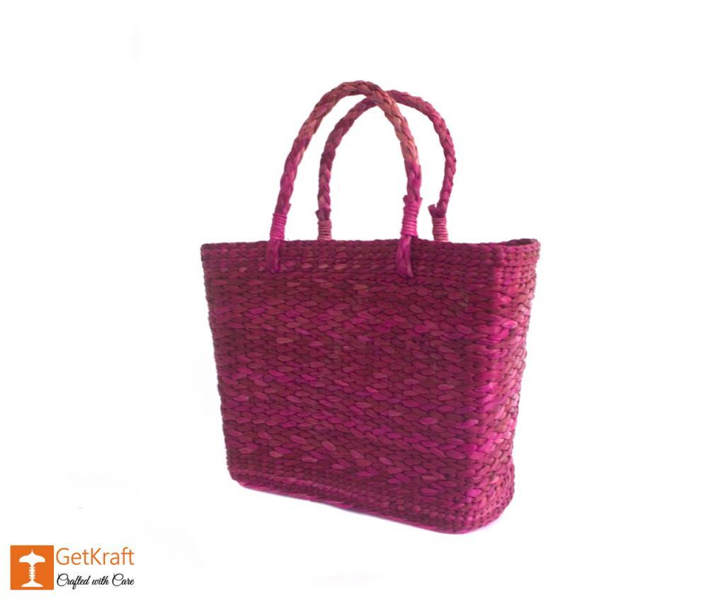 Kauna Handmade Purple Shoulder Bag(#377)-gallery-2