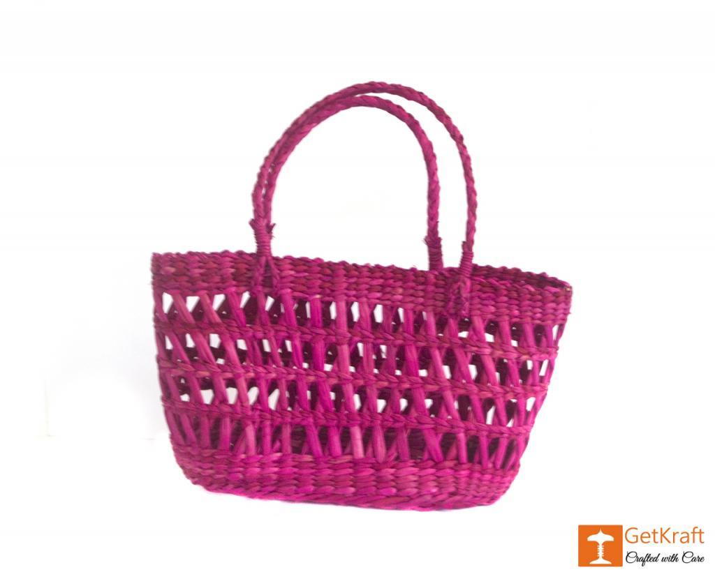 Kauna Handmade Purple Medium Sized Basket(#381)-gallery-0