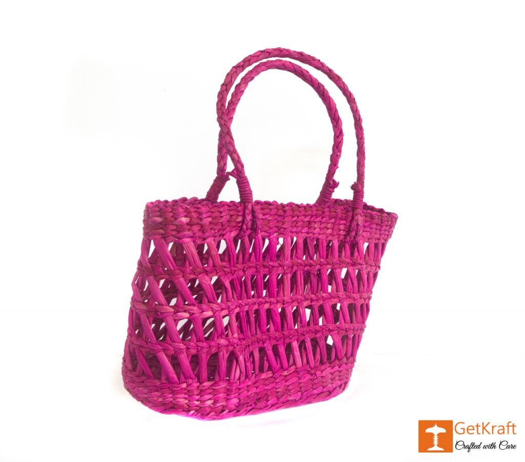 Kauna Handmade Purple Medium Sized Basket(#381)-gallery-1
