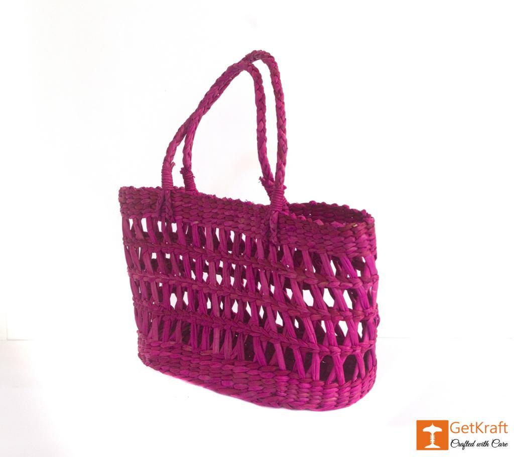 Kauna Handmade Purple Medium Sized Basket(#381)-gallery-2