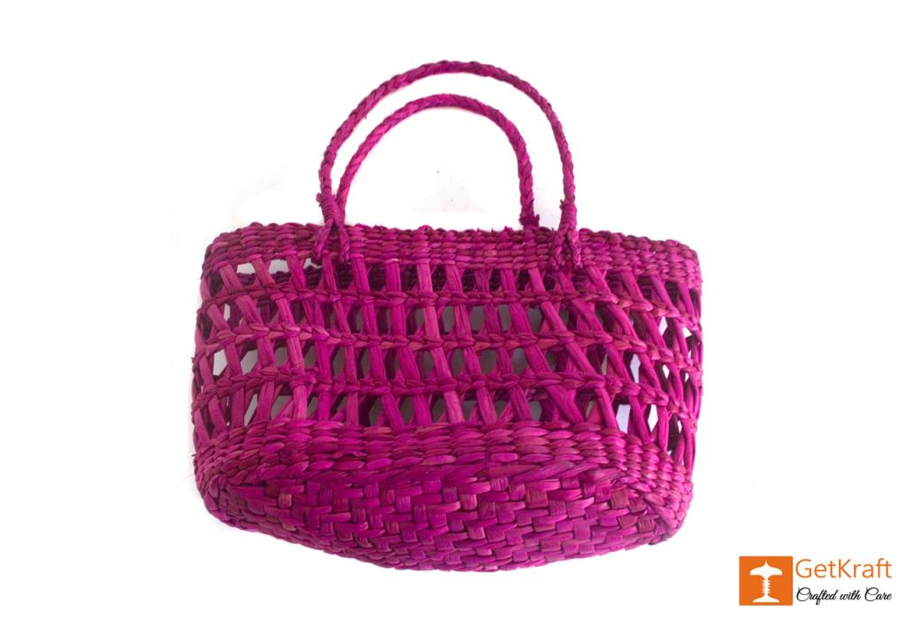 Kauna Handmade Purple Medium Sized Basket(#381)-gallery-3