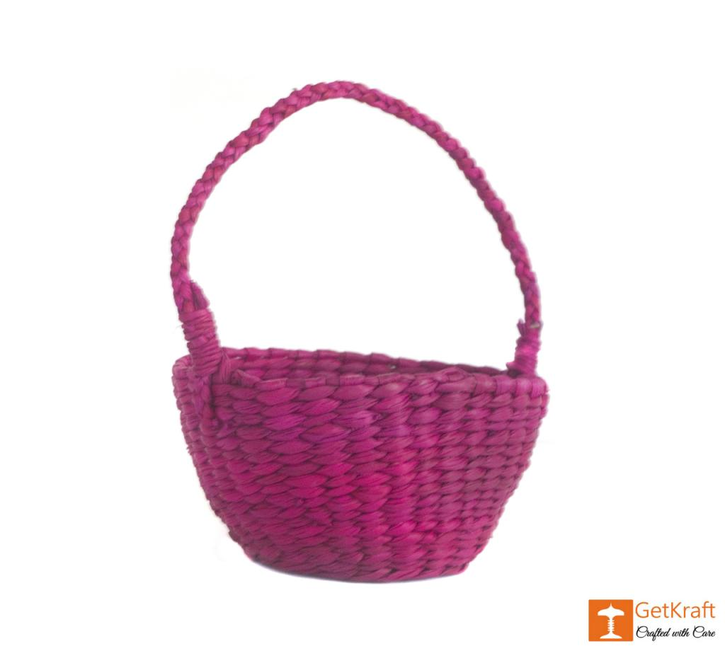 Kauna Handmade Purple Small Basket(#382)-gallery-1
