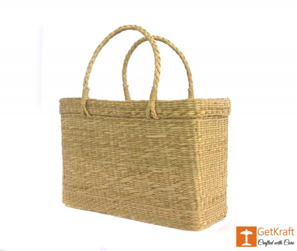 Natural Straw Beach Bag(#384)-gallery-1