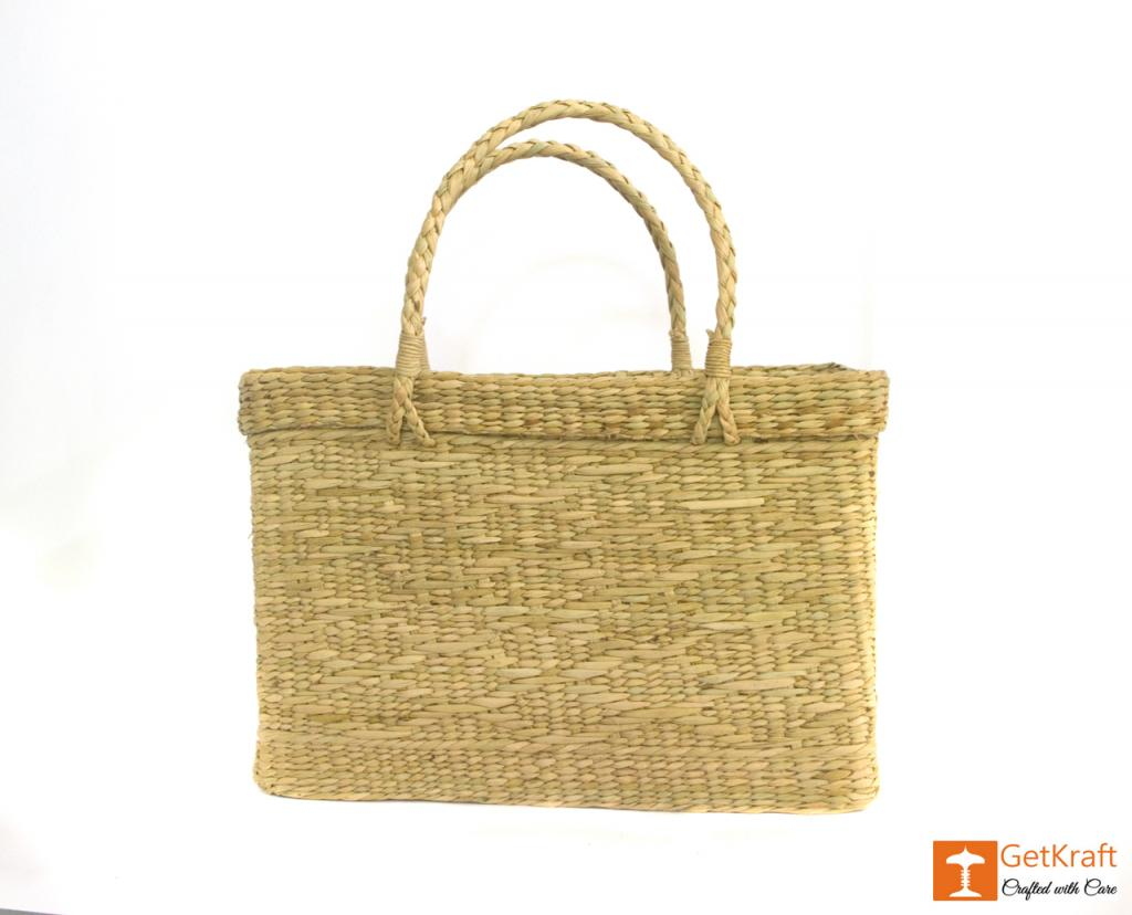 Natural Straw Beach Bag(#384)-gallery-3