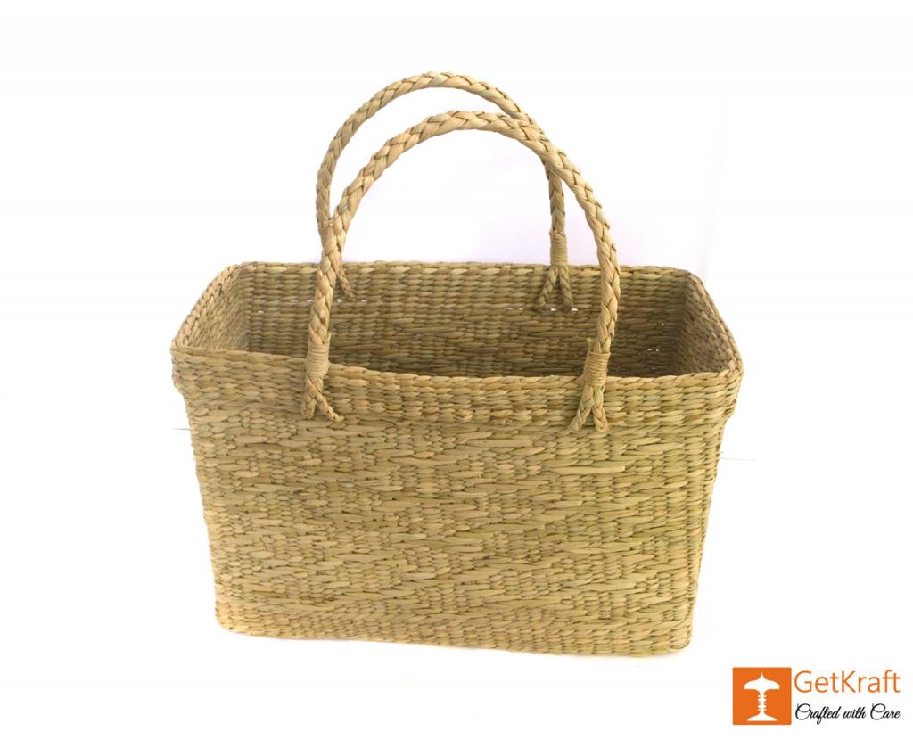Natural Straw Beach Bag(#384)-gallery-4