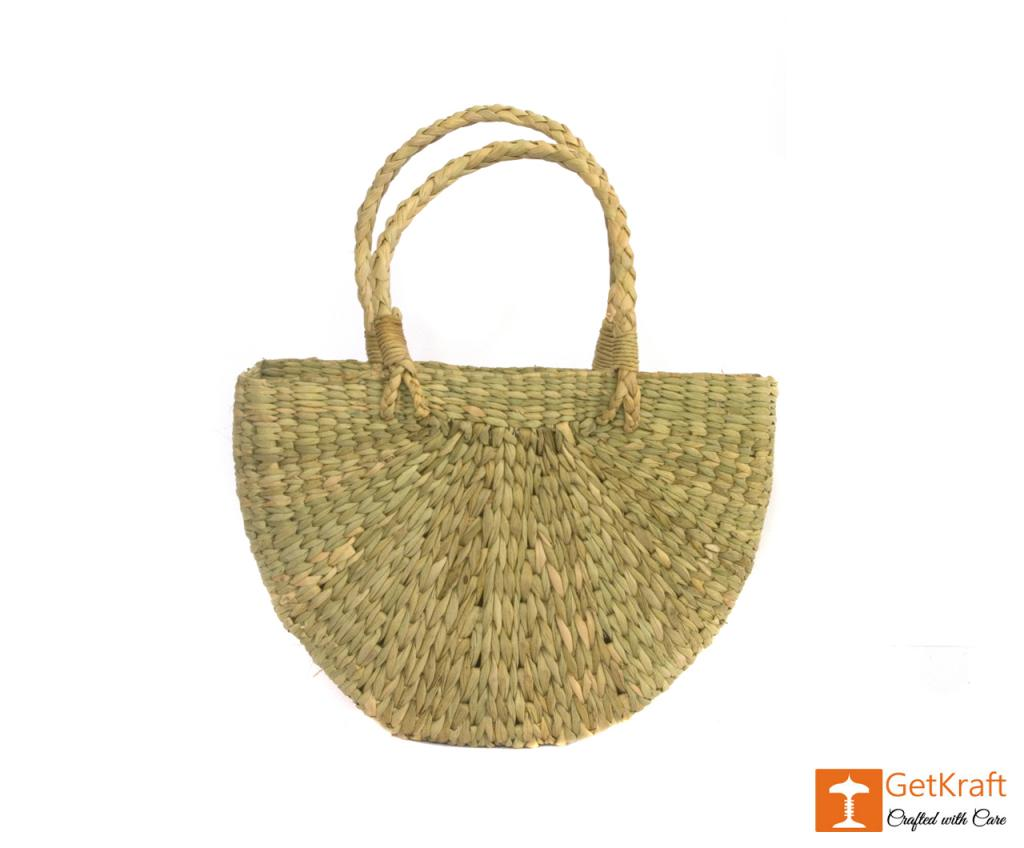 Natural Straw U- Bag Small(#388)-gallery-1