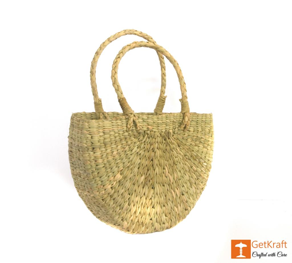 Natural Straw U- Bag Small(#388)-gallery-0