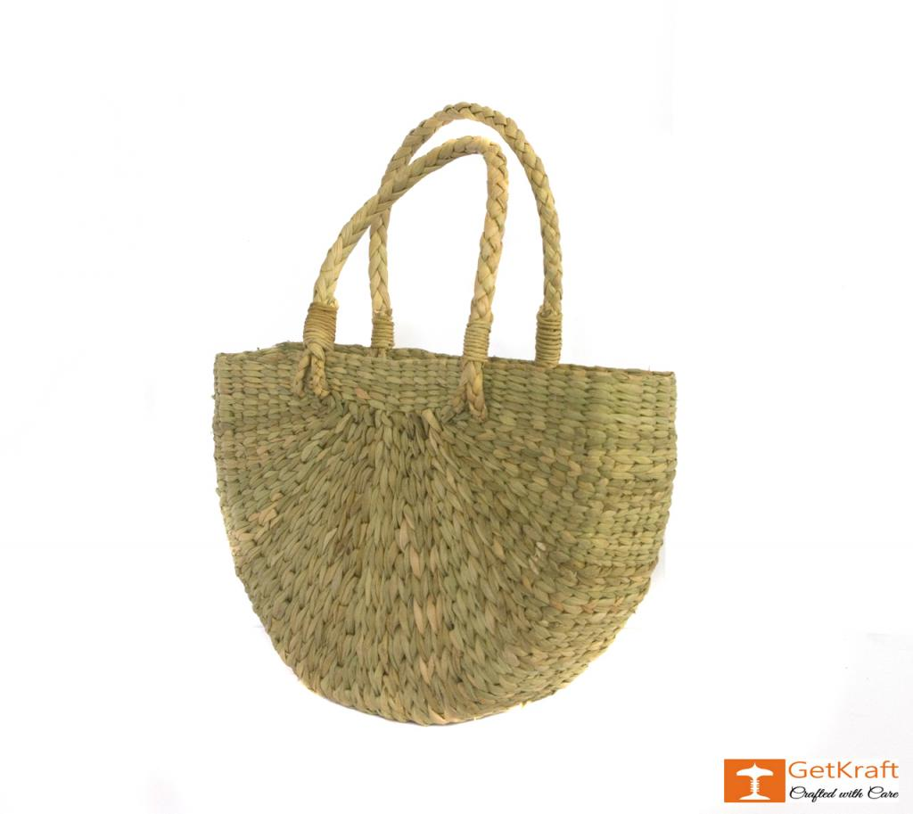 Natural Straw U- Bag Small(#388)-gallery-2