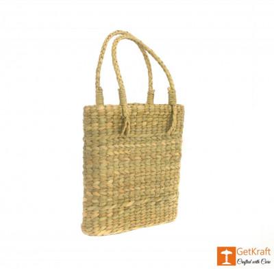 Natural Straw Handmade Slim and Small Bag(#389)-gallery-0