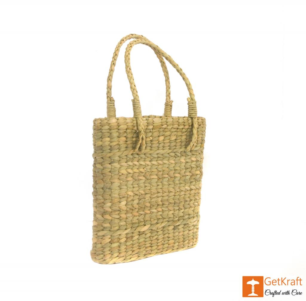Natural Straw Handmade Slim and Small Bag(#389)-gallery-0