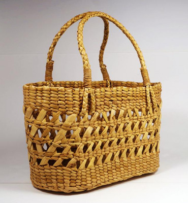 Natural Straw Handmade Net Bag(#390)-gallery-0