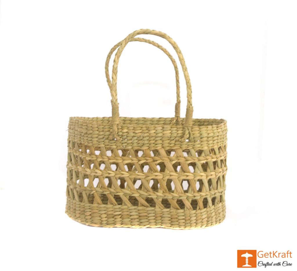 Natural Straw Handmade Net Bag(#390)-gallery-1