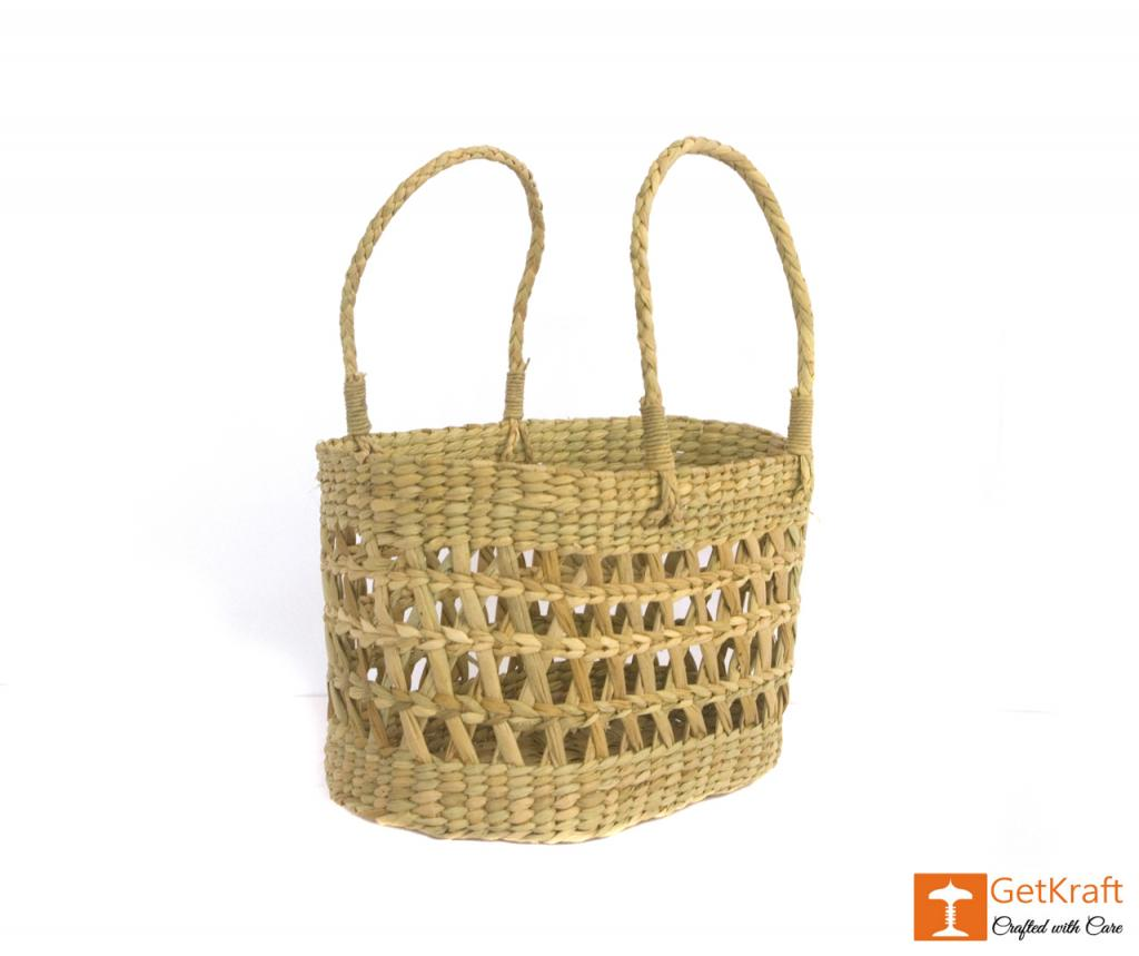 Natural Straw Handmade Net Bag(#390)-gallery-2