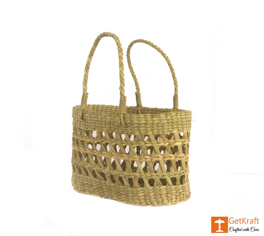 Natural Straw Handmade Net Bag(#390)-gallery-3