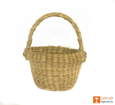 Kouna Handmade Small Picnic Basket(#391)-gallery-0