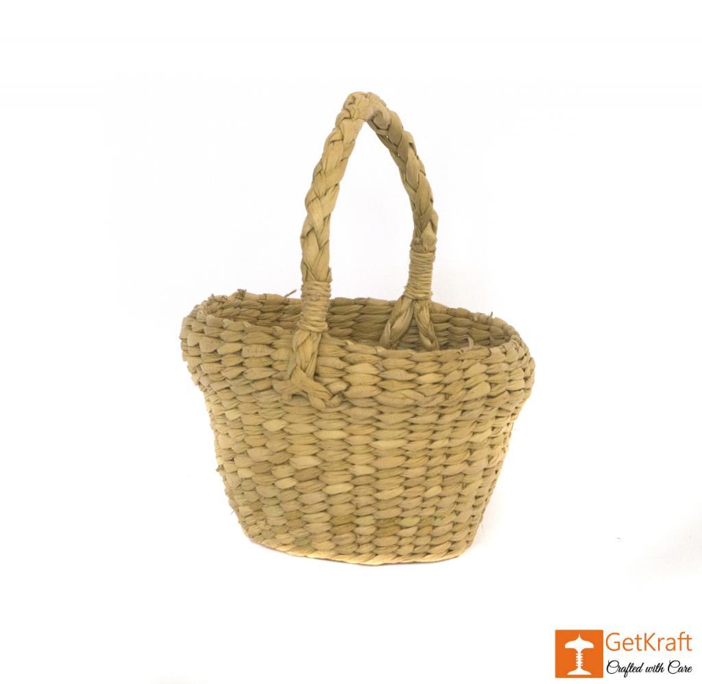 Kouna Handmade Small Picnic Basket(#391)-gallery-1