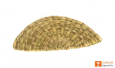 Natural Straw Handmade Clutch(#393)-gallery-0