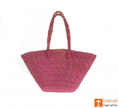 Natural Straw Handmade Oval Bag(#395)-gallery-0