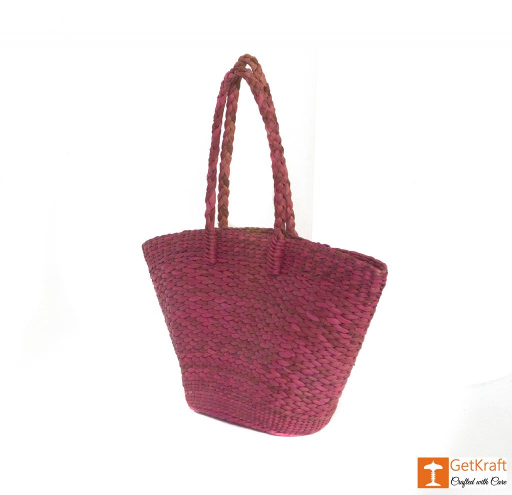 Natural Straw Handmade Oval Bag(#395)-gallery-1