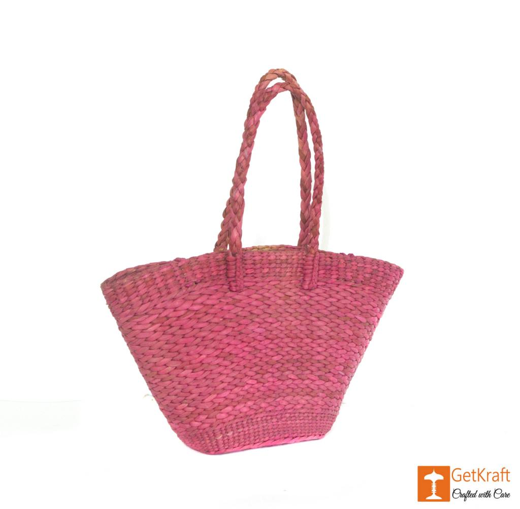 Natural Straw Handmade Oval Bag(#395)-gallery-2