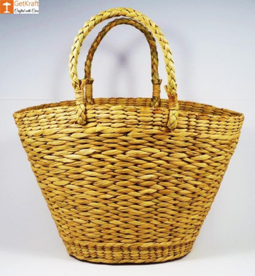 Natural Straw Oval Shaped Fancy Handbag(#396)-gallery-0