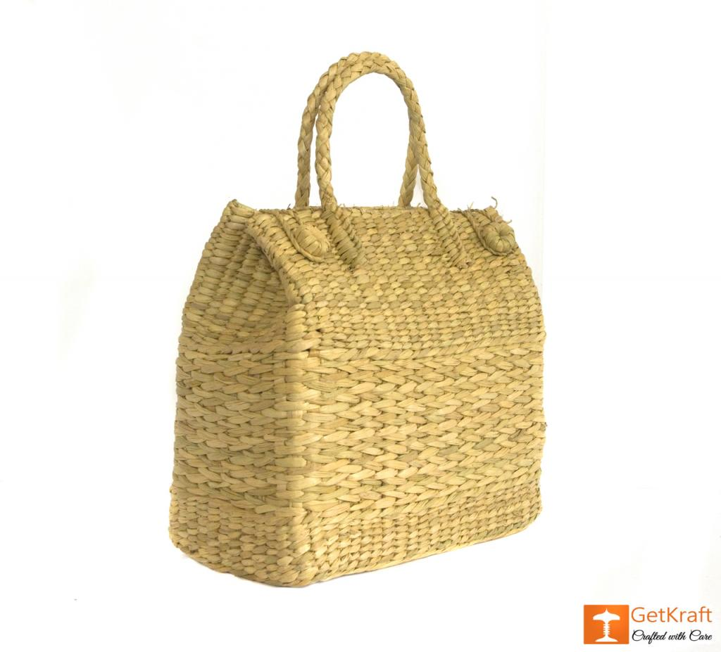 Natural Straw Grass Handmade Picnic Basket(#397)-gallery-2