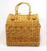 Natural Straw Grass Handmade Picnic Basket(#397) - getkraft.com