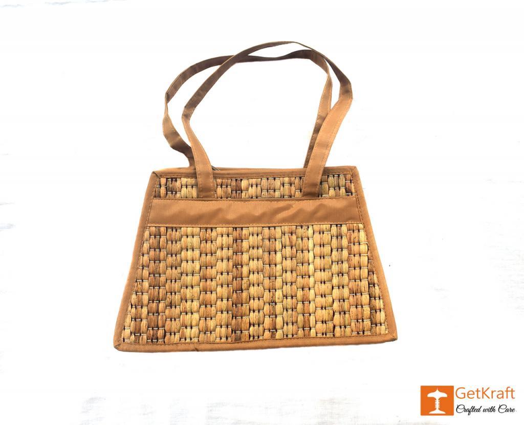 Natural Straw Square Handbag(#399)-gallery-1
