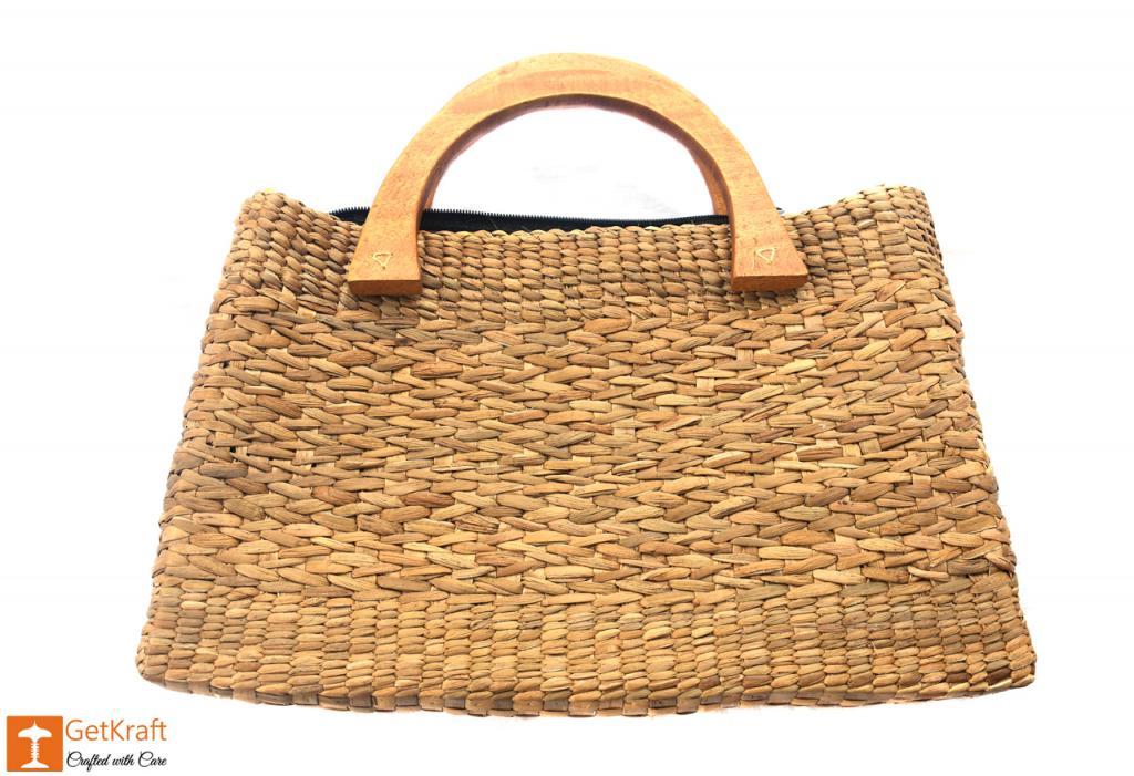 Natural Straw Bowler Bag(#400)-gallery-1