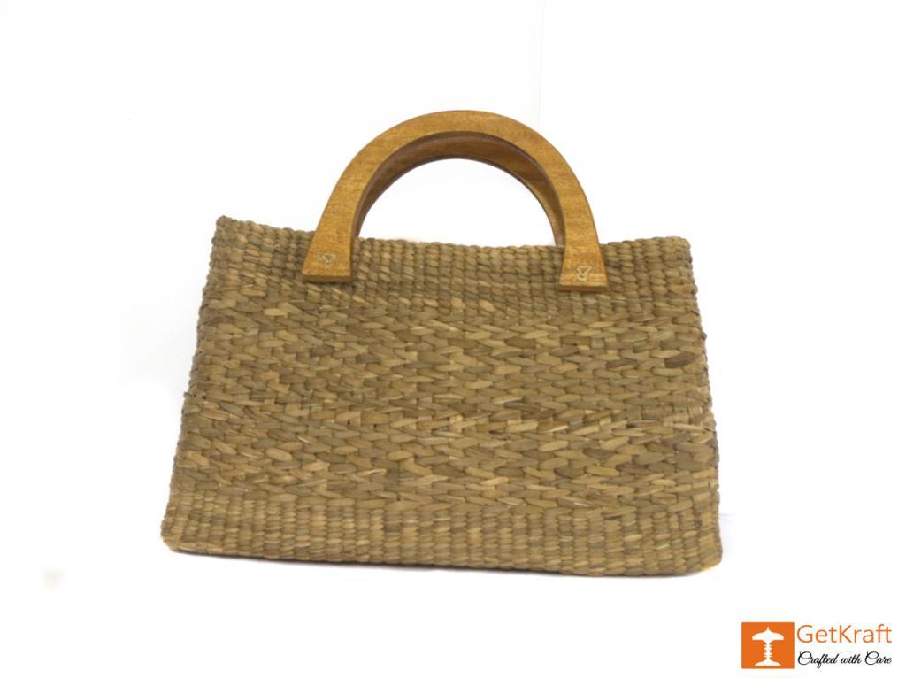 Natural Straw Bowler Bag(#400)-gallery-2