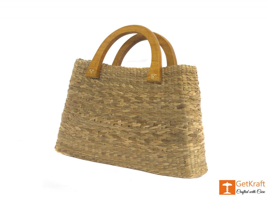 Natural Straw Bowler Bag(#400)-gallery-3