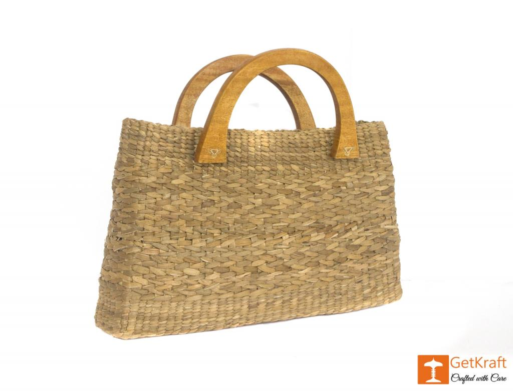 Natural Straw Bowler Bag(#400)-gallery-0