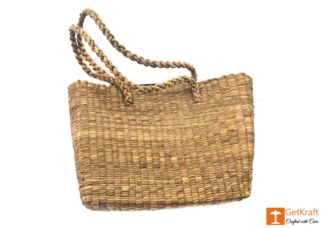Water Hyacinth bag (large)(#402)-gallery-0