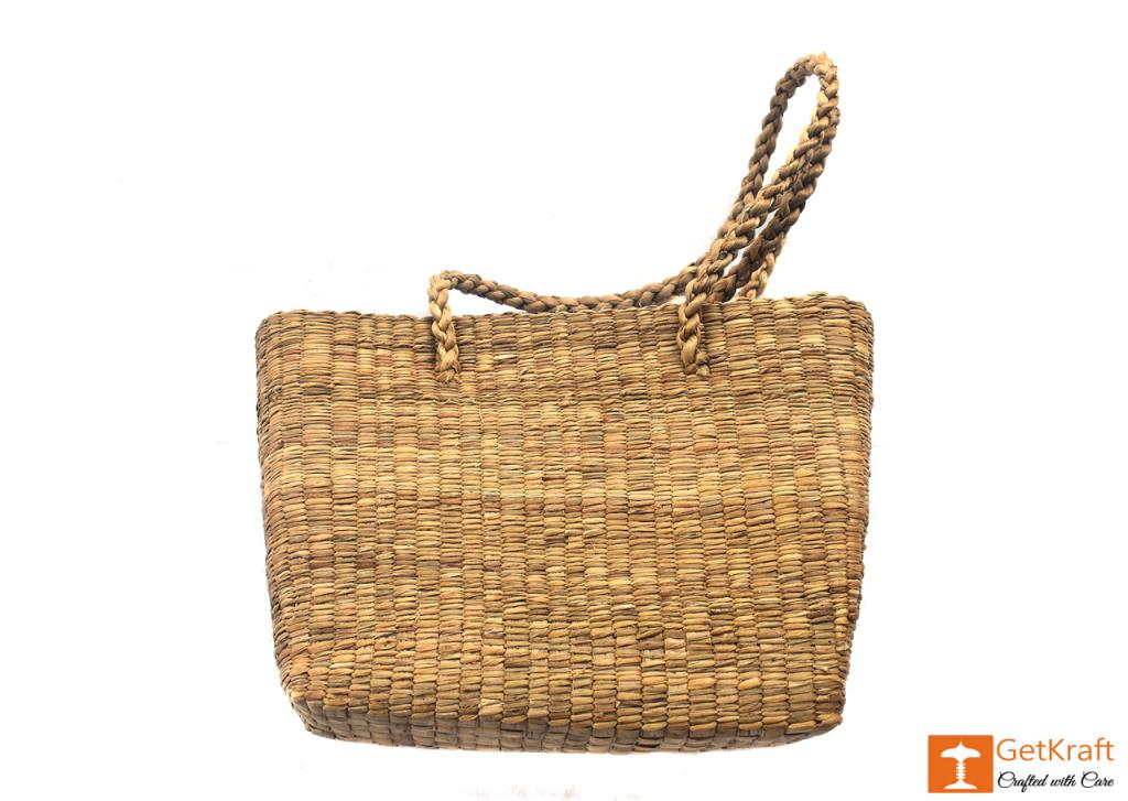 Natural Straw Bag (Large)(#402)-gallery-1