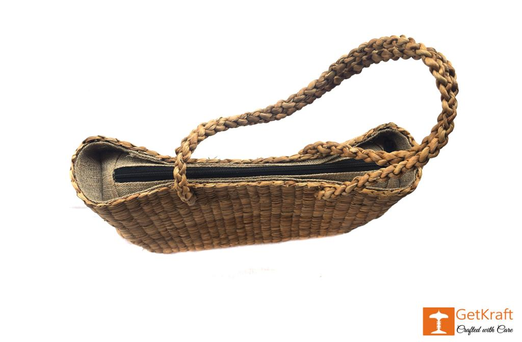 Water Hyacinth bag (large)(#402)-gallery-2