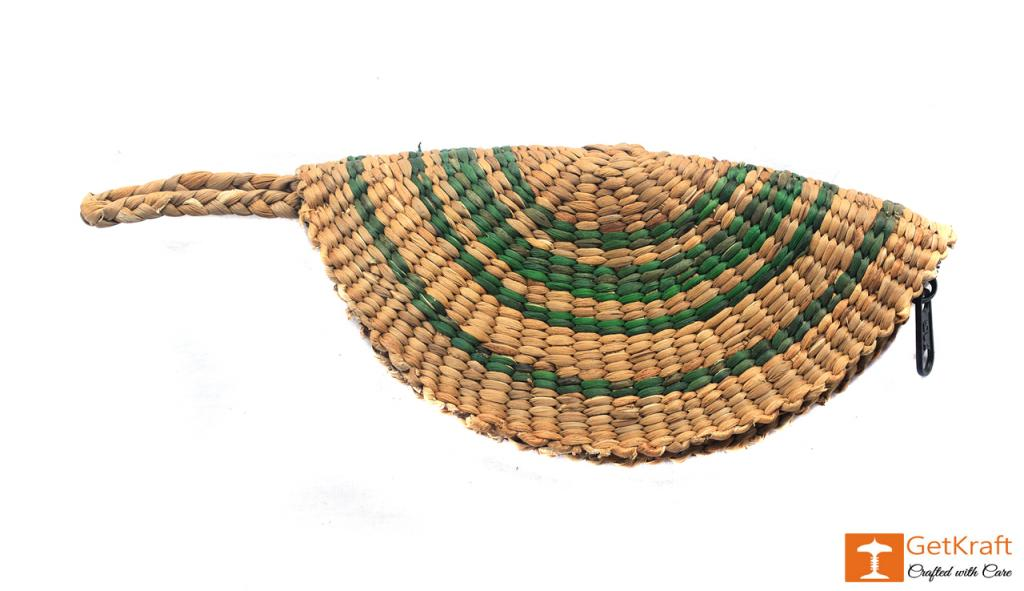 Natural Straw Small Handmade Clutch(#406)-gallery-0