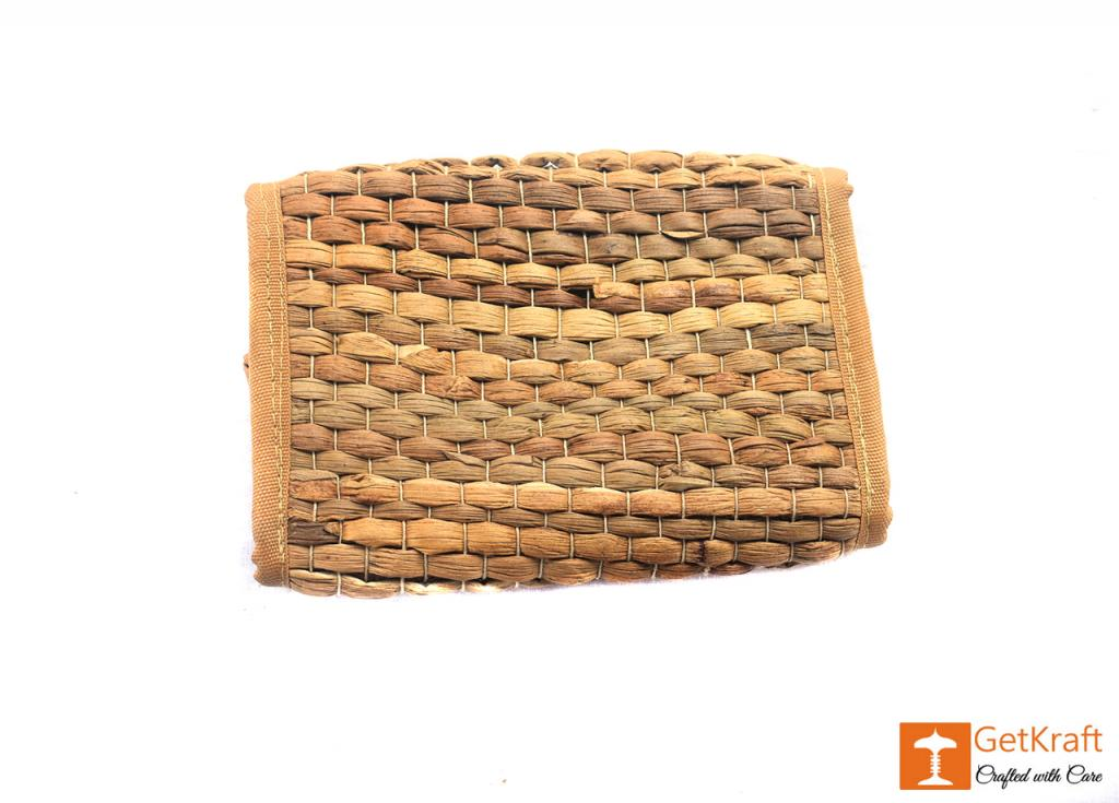 Water Hyacinth Unisex Handmade Purse Clutch Wallet(#407)-gallery-1