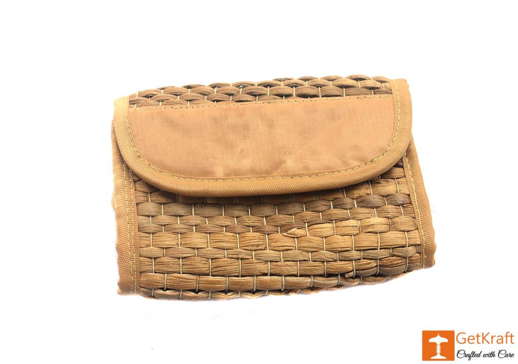 Natural Straw Unisex Handmade Purse Clutch Wallet(#407)-gallery-0