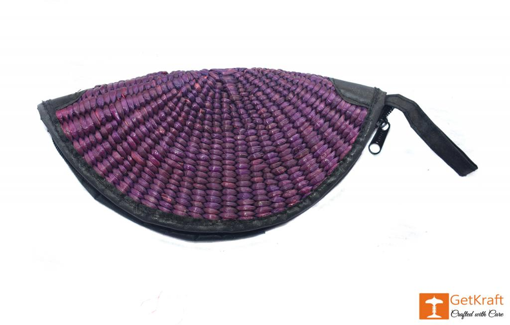 Water Hyacinth Handmade Clutch(#408)-gallery-1