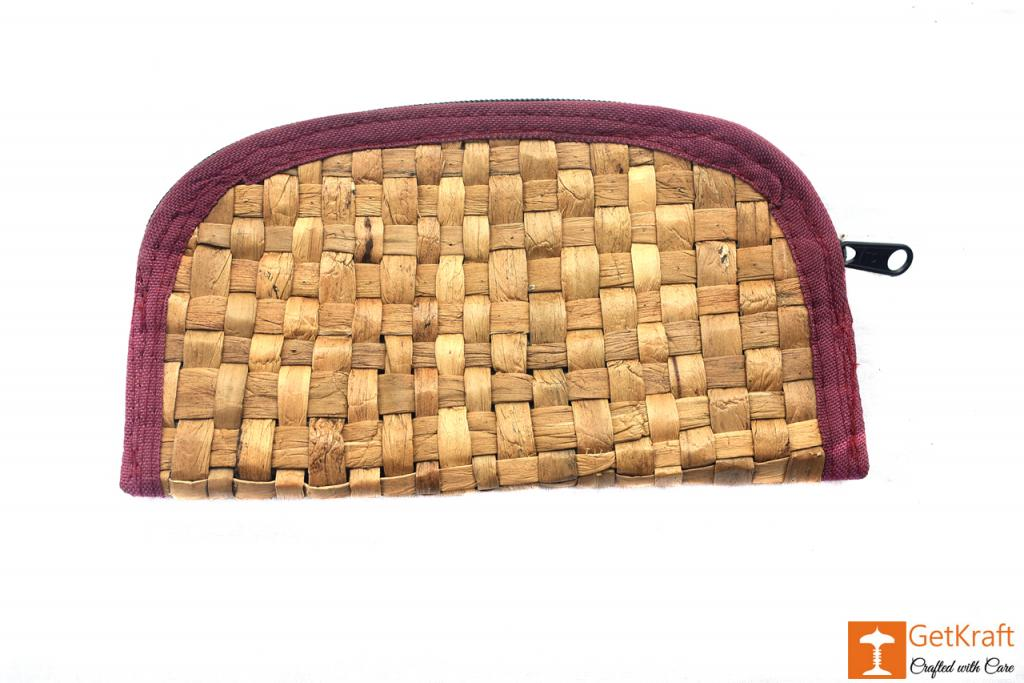 Natural Straw Handmade Clutch(#409)-gallery-0