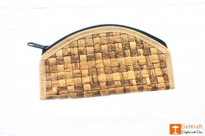 Natural Straw Handmade Clutch(#410)-gallery-0